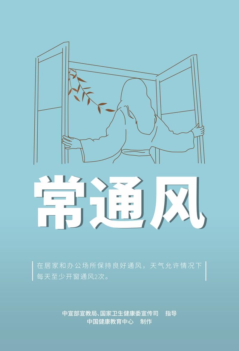 新冠肺炎疫情防护知识宣传海报:保持手卫生